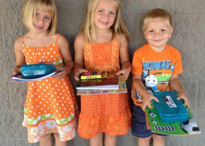 2012 Optimist Back To School donations Kurowski (2)
